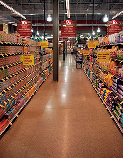 The aisles in a grocery store was a big project for Rockerz.