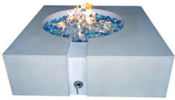 For many years now, the popularity of concrete countertops has grown. Classic Concrete Firepit