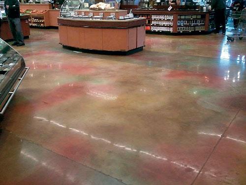 Dyed Concrete Floor Celebrates Earth Day Concrete Decor
