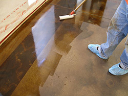 Sealing concrete can make the color of the concrete become a darker, wet look.