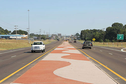 Concrete Topping Adds Appeal To Highway Corridor