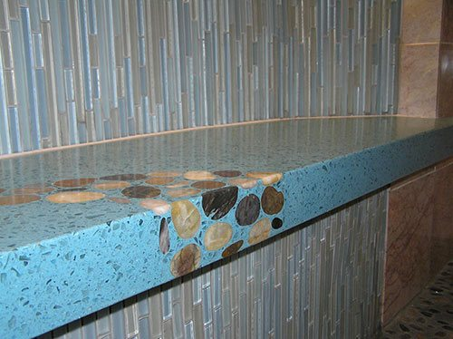 How To Create A Shower Bench Out Of Concrete Concrete Decor