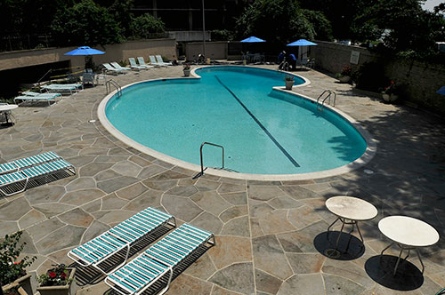Remember Watergate Check Out Their Swimming Pool Concrete Decor