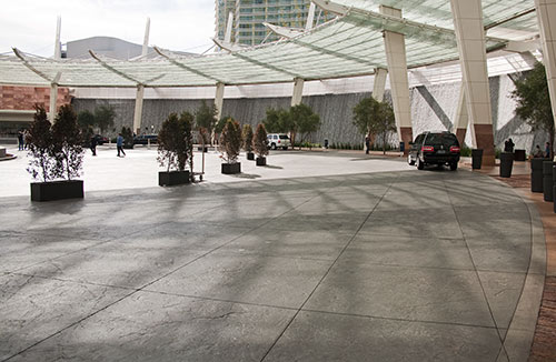 MGM Resorts International, CityCenter Las Vegas, decorative concrete