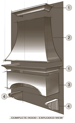 concrete oven hood sketch how to create an oven hood out of concrete