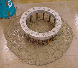 The ASTM C 1621 test measures Self-consolidating concrete passing ability.