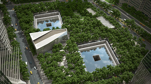 Rendering by squared lab design courtesy of national september 11 memorial museum