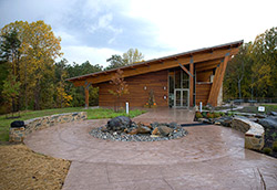 Cast-In-Place, Stamped, Over 5,000 Square Feet Robinson Nature Center  Hyde Concrete, Annapolis, Md.