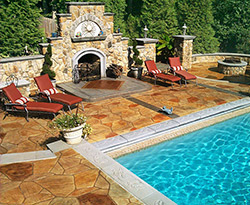 "Cast-In-Place, Stamped, Under 5,000 Square Feet  ""Hidden Oasis""  Greystone Masonry Inc., Stafford, Va."