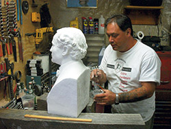 The first step to casting a piece is to prepare the model you'll be basing the mold on. Models can be existing pieces or they can be something you sculpt from clay, wood or stone yourself.