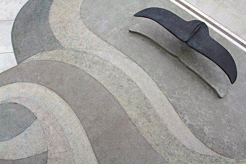 Mesmerizing Concrete Entryway Plaza At The Monterey Bay