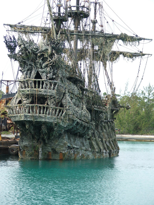 Concrete Pirate Ship In The Pirates Of Caribbean Movie Made With Decorative Overlays