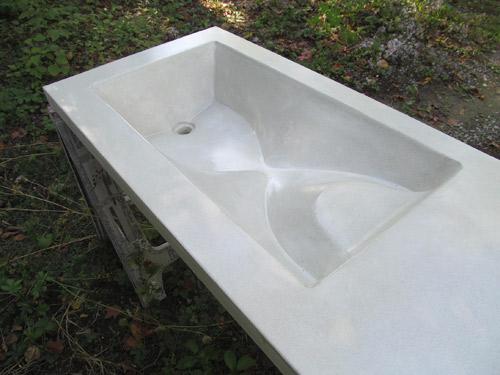 How To Fabric Form A Concrete Sink Concrete Decor