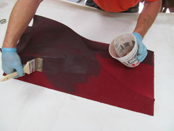 Forming concrete with fabric - Be warned — you will need to move quickly with 2 percent as the resin will kick off much faster. You can also run the risk of the fabric wrinkling on you if it is not stretched tight enough. As the resin cures, it shrinks.