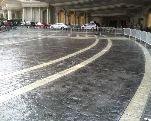Main Valet Concrete Driveway At Caesars Palace Concrete