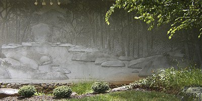 David Seils' master craft, wall relief sculpture, is an art form that dates back to ancient times, when civilizations carved designs into stone walls, buildings and columns. But instead of chiseling away material, the Asheville, N.C.-based Seils builds up his wall sculptures in layers using mortar, a mason's hawk and a trowel.
