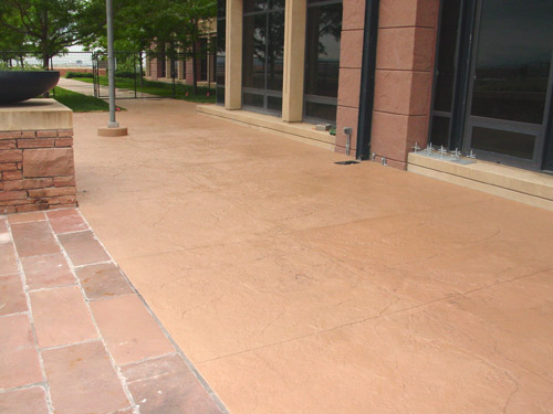 Exterior Stamped Concrete Revitalized With A Solid Color Stain Photo By Chris Sullivan