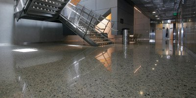 Polished concrete in a federal building in San Francisco.