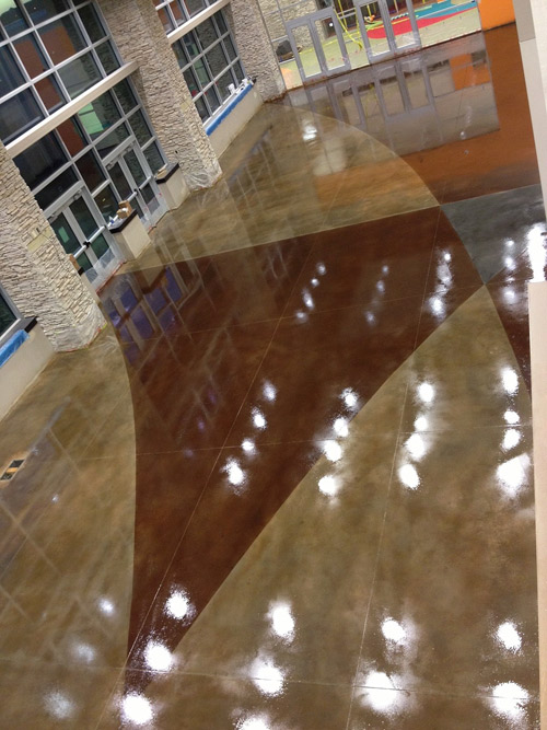 This church floor by Increte of the Ozarks was sealed with a high-gloss sealer from Increte Systems. Photo courtesy of Increte Systems