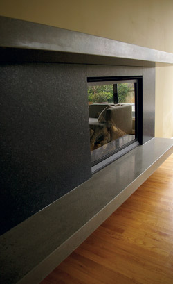 Modern Concrete Fireplace