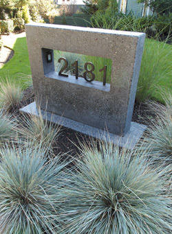Concrete Street Address Piece