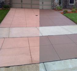 Concrete color restoration concrete restoration - Scofield revive exterior concrete stain ...