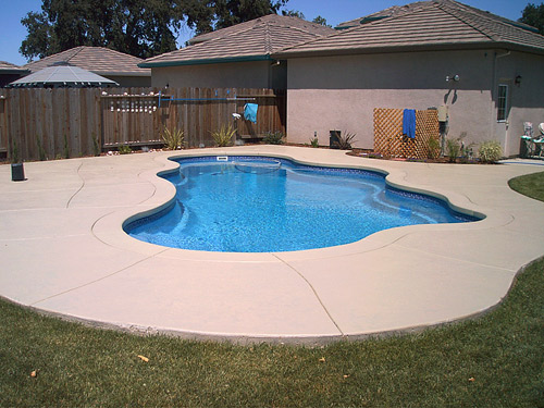 Before And After Pool Deck Restoration This Residential Project In Rancho Cucamonga Calif