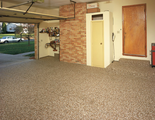Epoxy bonded stone concrete toppings decorative for Chattahoochee floor