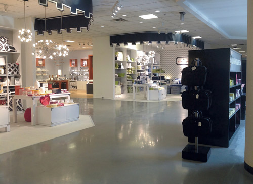 After being forced to use a jackhammer to remove stubborn ceramic tile at the JCPenney store at West Town Mall in Knoxville, Tenn., the Yarbrough Concrete Polishing crew had to pour a brand new floor.