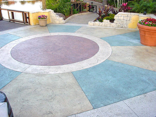 how to clean colored concrete