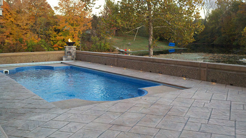 Stamped Concrete Around Pool Beauteous Fixing Slippery Stamped Concrete Near Pools  Concrete Decor