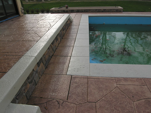 Stamped Concrete Bedrooms : Fixing slippery stamped concrete near pools decor