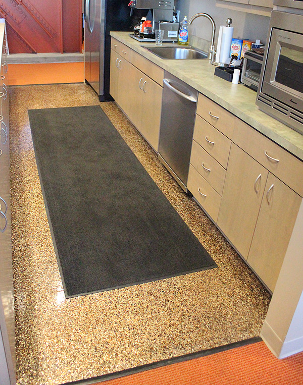 Mica chip concrete flooring