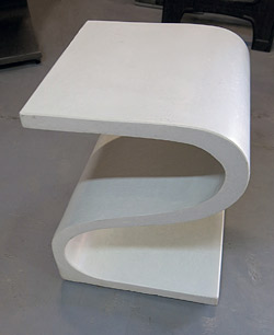 concrete s shaped chair