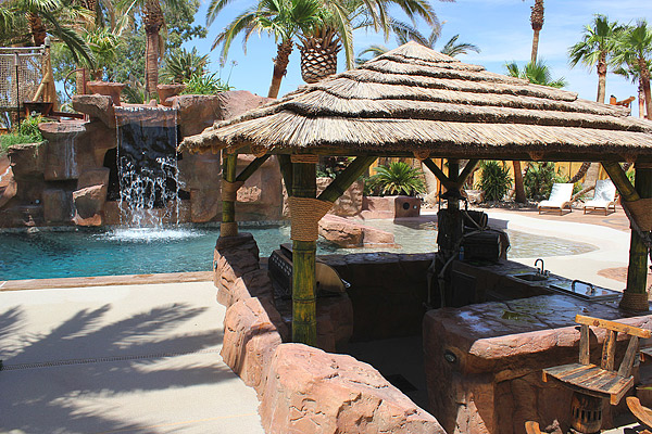 Beach Themed Backyard Designs :  Finishes in a Beachthemed Backyard, Brush Backyard, Las Vegas, Nev