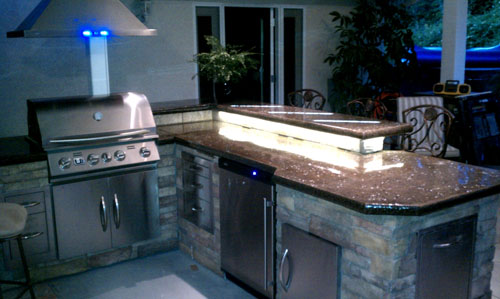 Tom Spurlock, a construction veteran from Orange County who did these counters as a DIY project.