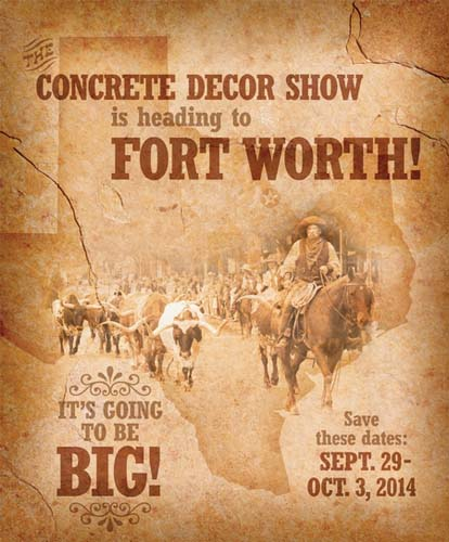 Fort Worth Concrete Decor Show Poster
