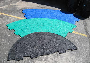 Three different tools make up Butterfield Color's natural-looking cobblestone circle pattern. They can be used together or separately to form various medallions and borders.