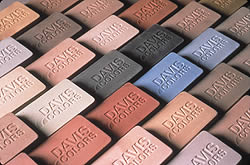 Davis Colors Samples for integrally colored concrete