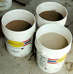 Buckets of concrete color harner - Tip #1 Color Hardener