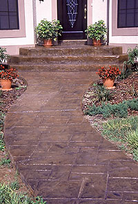 Stamped Concrete and Its... Coats of Many Colors | Concrete Decor