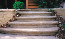 Versaliner step form liner from Polystone Products take the guesswork out of texturizing vertical concrete surfaces