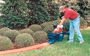 Decorative concrete edging, curbs and gutters can be done by one concrete contractor using a smaller machine - Li'l Bubba