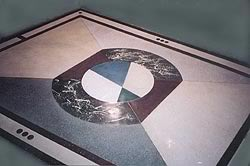 Terrazzo and Decorative Overlayment to create a crisp clean logo