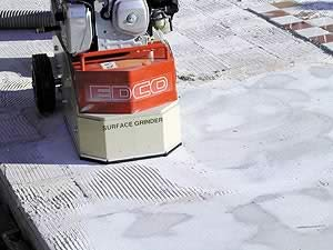 EDCO surface preparation machine grinding concrete. Evaluating moisture and vapor transmission Determining the moisture content and vapor transmission is critical to maintaining the structural integrity of the slab before any toppings or coatings can be applied.