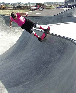Skating of Airspeed Skateparks - o bring their inspiration to concrete reality, they use a 3-D modeling software program called Rhino. The program creates, edits, and analyzes a broad array of complex objects through its mathematical representation of 3-D geometry.