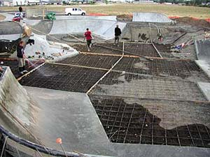 Building one of Airspeed Skateparks -Parks usually range from 8,000 to 20,000 square feet. At nearly 30,000 square feet, the Chehalem Skate Park, in Newberg, Ore., is one of the most revered and visited parks in the Pacific Northwest.