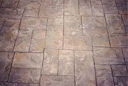 Concrete stamping is breathtaking even with a visible repeat in the concrete stamping pattern.