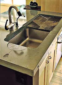 Concrete Kitchen Countertop is like a science, controlling the moisture levels, air temperature and stirring can effect the outcome of the pour.