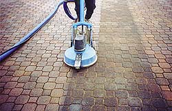 Maintaining Concrete does not have to be only about decorative or stamped concrete. Your customers may have concrete pavers that can be cleaned too.